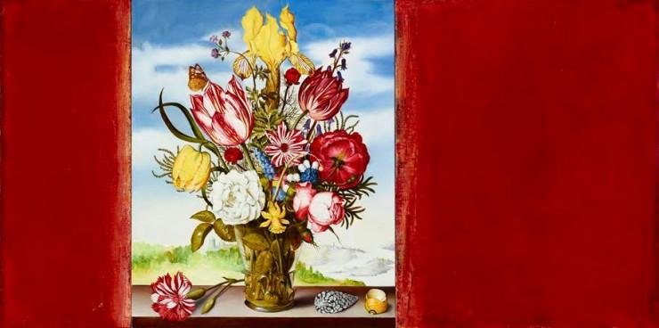 Untitled 01 (Bosschaert-1620) oil on canvas 20 x 40 inch jpg