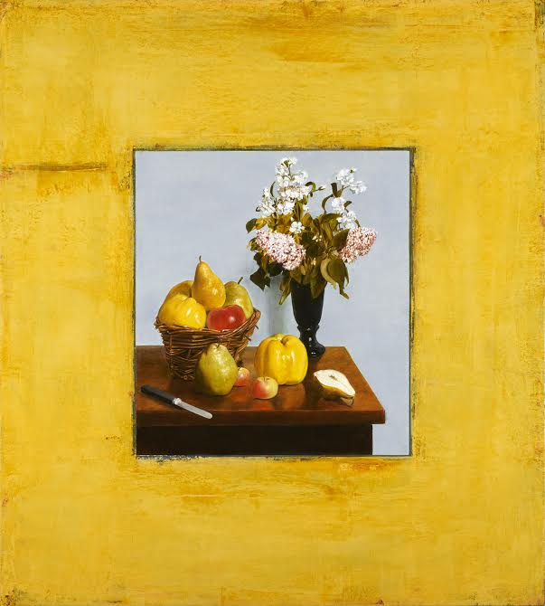 Fantin Latour surrounded by Action Yellow. o:c 40 x 36 inches.jpg